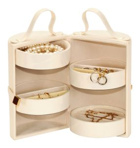Golden Pearl Iris Four Tier Jewellery Case