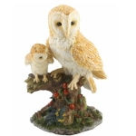 Adult and Baby Barn Owl Ornament