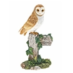 Barn Owl on Signpost Ornament