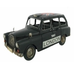 Black London Taxi Metal Model