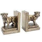 Bronze Bulldog Bookends