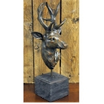 Brown Stag Head on Base Ornament