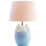 Ceramic Blue Owl Table Lamp