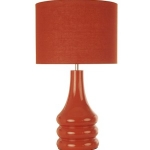Ceramic Burnt Orange Round Table Lamp