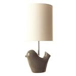 Ceramic Dark Grey Lottie Bird Table Lamp