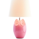 Ceramic Pink Owl Table Lamp