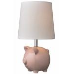 Ceramic Pink Pig Table Lamp