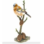 Chaffinch with Pine Cones Ornament