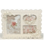 Cream Lace Three Photograph Frame