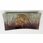 Decorative Rectangular Glass Autumn Tree Plate