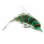 Dolphin Glass Paperweight Figurine
