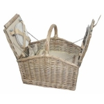 Four Person Willow Fitted Lidded Hamper with Chiller