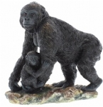 Gorilla and Baby Ornament