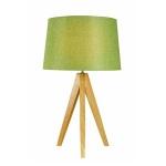 Green Wooden Tripod Table Lamp