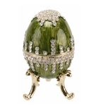 Large Green Egg Trinket Box