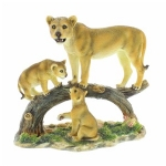 Lioness and Cubs Ornament