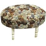 Oval Small Teddies Tapestry Footstool