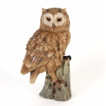 Owl on a Stump Ornament