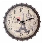 Paris Bottle Top Wall Clock