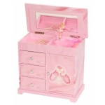 Pink Ballerina Beth Girls Music Box