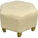 Plain Linen Hexagonal Footstool