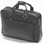 Princeton Black Leather Laptop Business Bag