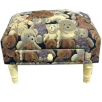 Rectangular Teddy Tapestry Footstool with Drawer