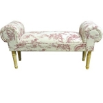 Red Toile Window Seat