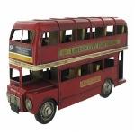 Red London Bus Metal Model