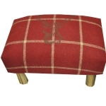 Red Stag Footstool