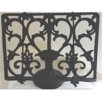 Rustic Black Cast Iron Cook Book Stand