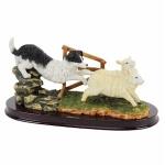 Sheepdog and Sheep Ornament