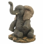 Sitting Elephant Ornament