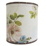 Small Floral Wooden Oval Waste Bin