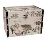Small Lace Shoe and Bag Wooden Storage Box with Drawer