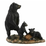 Standing Black Bear and Cubs Ornament