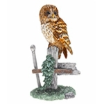 Tawny Owl on Gate Post Ornament