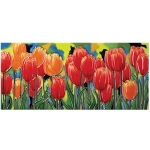 Tulip Fields Rectangular Tile