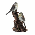 Two Long Tailed Tits on a Branch Ornament