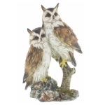 Two Owls on a Branch Ornament