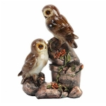 Two Owls with a Plantpot Ornament