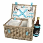 Two Person Fitted Deep Hamper with Chiller and Blue Handles