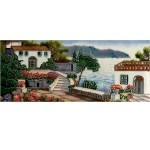Villa by the Sea Rectangular Tile