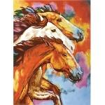 Wild Horses Rectangular Tile