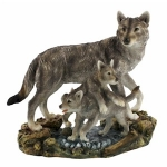 Wolf and Cubs Ornament