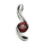 Garnet Swirl Design Pendant