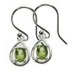 Peridot Oval Earrings