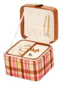 Small Pink Tartan Jewellery Box