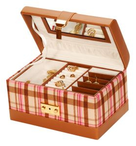Pink Plaid Wendy Jewellery Box
