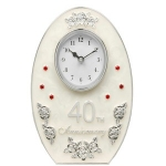 40th Anniversary Cream Enamel Clock